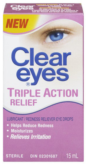 CLEAR EYES TRIPLE ACTION RELIEF 15ML - Queensborough Community Pharmacy