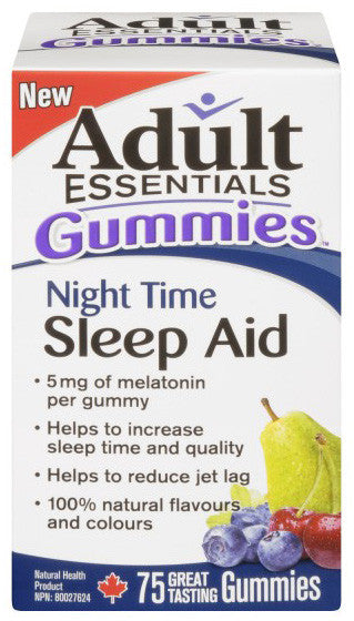 ADULT ESSENTIALS GUMMIES SLEEP AIDNIGHT TIME 75'S - Queensborough Community Pharmacy