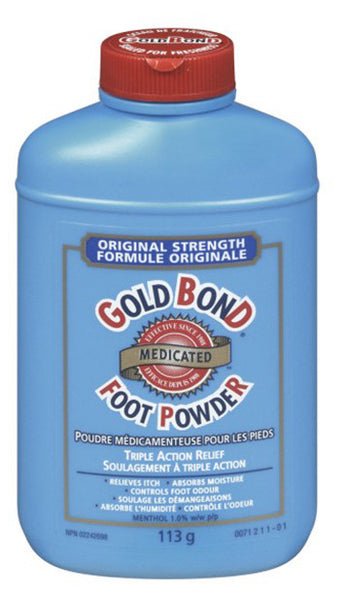 GOLD BOND MEDIC FOOT PWD 113G - Queensborough Community Pharmacy
