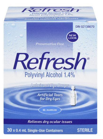 ALLERGAN REFRESH ARTIFICIAL TEARS 30/.4ML - Queensborough Community Pharmacy