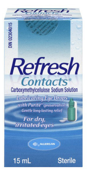 ALLERGAN REFRESH CONTACTS COMFORT DROPS 15ML - Queensborough Community Pharmacy