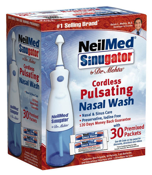 SINUGATOR CORDLES SPULSATING NASAL WASH 1'S - Queensborough Community Pharmacy