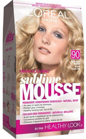 L'OREAL SUBLIME MOUSSE PURE LIGHT BLONDE HEALTHY LOOK #90 - Queensborough Community Pharmacy