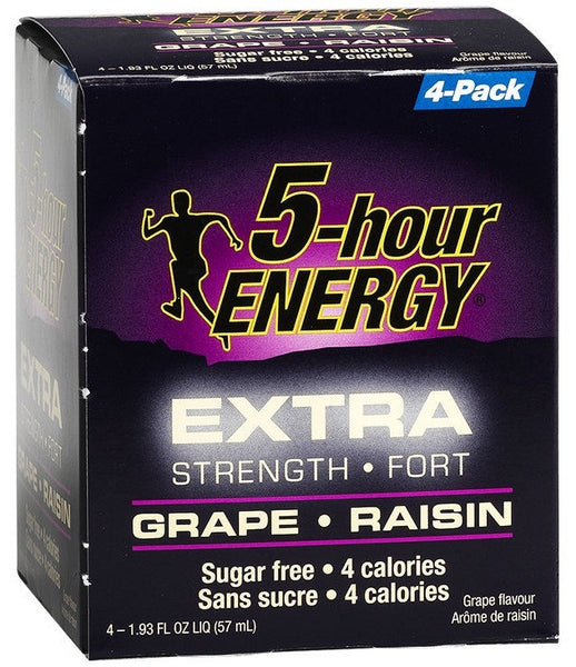 5-HOUR ENERGY GRAPE 4/57ML - Queensborough Community Pharmacy