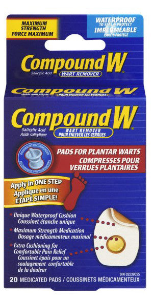 COMPOUND W PLANTAR PADS 20'S - Queensborough Community Pharmacy