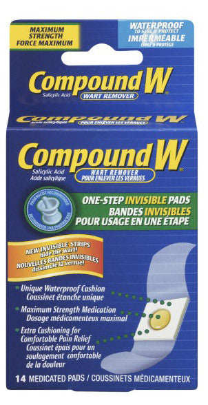 COMPOUND W INVISIBLE STRIPS 14'S - Queensborough Community Pharmacy