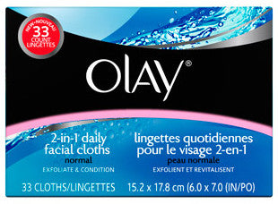 OLAY FACE CLOTHS NORMAL REFILL 33'S - Queensborough Community Pharmacy