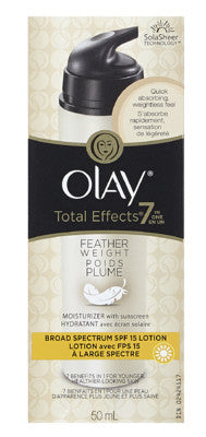 OLAY TOTAL EFFECTS 7-IN-1 FEATHER SPECTRUM SPF15 50ML - Queensborough Community Pharmacy