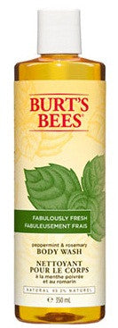 BURT'S BEES B/WASH PEPERMINT& ROSMARY 350ML - Queensborough Community Pharmacy