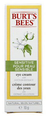 BURT'S BEES SENSITIVE EYE CREAM 10G - Queensborough Community Pharmacy