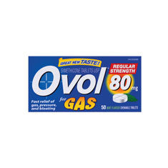 OVOL REGULAR STR TABS 80MG 50'S - Queensborough Community Pharmacy