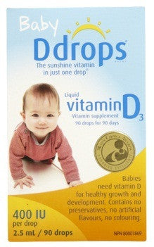 DDROPS BABY 400IU 2.5ML - Queensborough Community Pharmacy