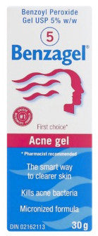 BENZAGEL 5% ACNE GEL 30G - Queensborough Community Pharmacy