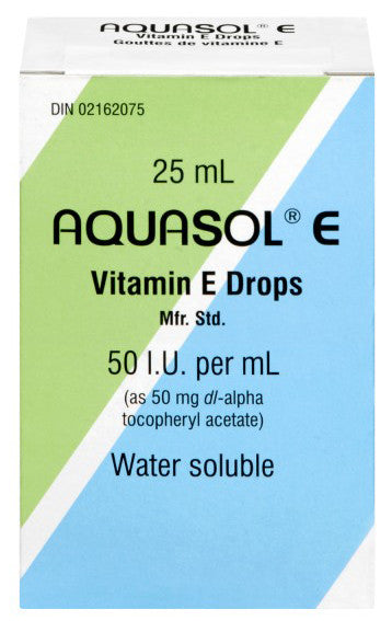 AQUASOL E VIT E DROPS 25ML - Queensborough Community Pharmacy