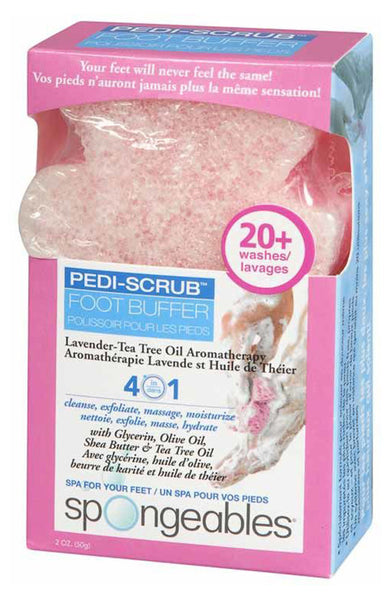 PEDI-SCRUB FOOT BUFFER LAVENDER 50G - Queensborough Community Pharmacy
