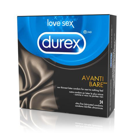 DUREX AVANTI BARE LUBRICATED 24'S - Queensborough Community Pharmacy