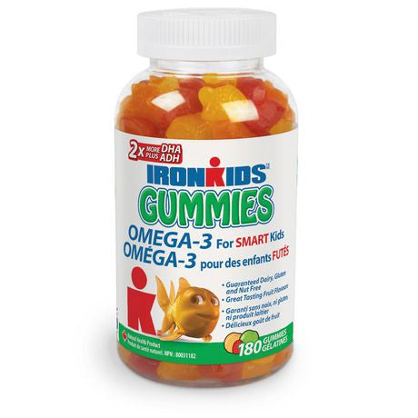 IRONKIDS OMEGA-3 FOR SMART KIDS 180'S
