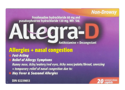 ALLEGRA D 60MG 20'S - Queensborough Community Pharmacy
