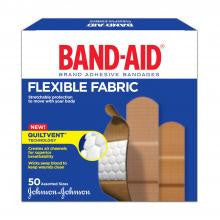 J&J BAND-AID FABRIC BANDAGES 50'S - Queensborough Community Pharmacy