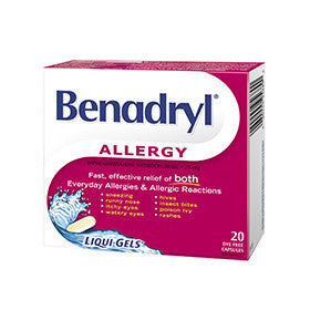 BENADRYL RS LIQUI-GELS 20'S - Queensborough Community Pharmacy