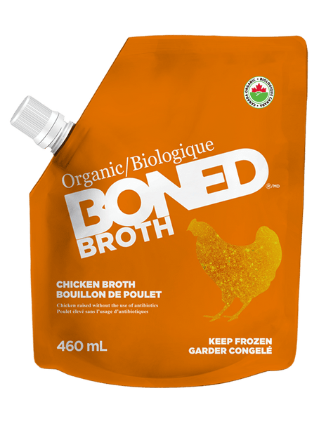 FREE RANGE ORGANIC CHICKEN BONED BROTH 460ML