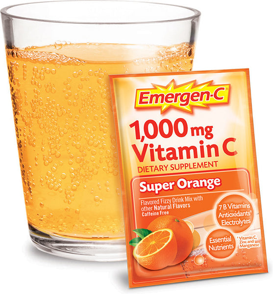 Emergen-C 1000mg Vitamin C Super Orange 30 Packets - Queensborough Community Pharmacy