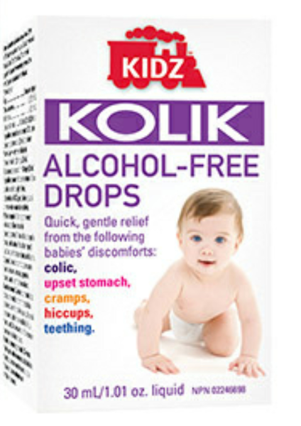 KIDZ KOLIK DROPS ALCOHOL FREE 30ML - Queensborough Community Pharmacy