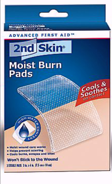 2ND SKIN MOIST BURN PAD LARGE 3'S - Queensborough Community Pharmacy