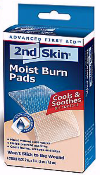 2ND SKIN MOIST BURN PAD MED 4'S - Queensborough Community Pharmacy