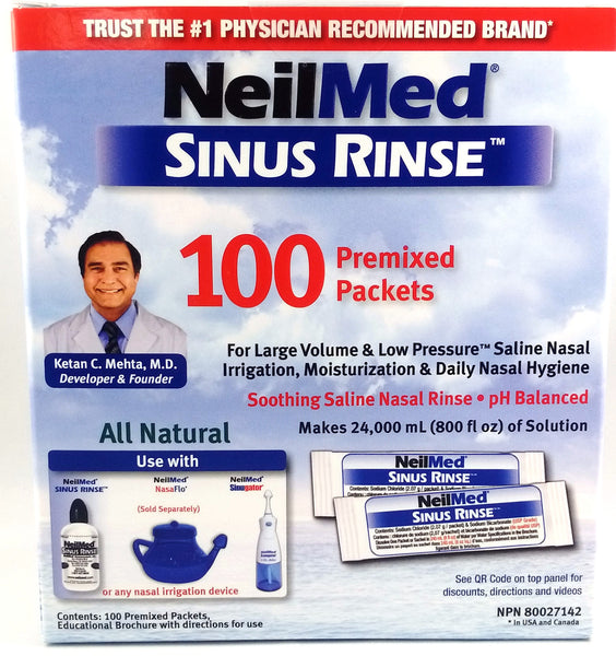NEILMED SINUS RINSE REFILL 100'S - Queensborough Community Pharmacy