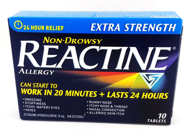 REACTINE TABS X-STR 10'S - Queensborough Community Pharmacy