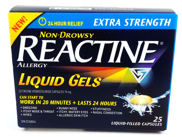 REACTINE LIQ GELS X-STR 25'S - Queensborough Community Pharmacy