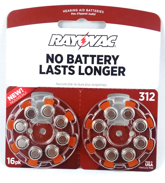 RAYOVAC H/AID BATT SZ312 Z/M 16'S - Queensborough Community Pharmacy