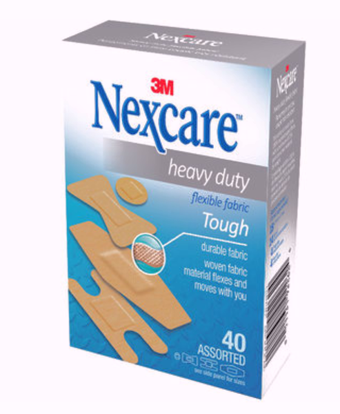 3M NEXCARE HEAVY DUTY FLEXIBLE FABRIC BANDAGES #HD201 40'S - Queensborough Community Pharmacy