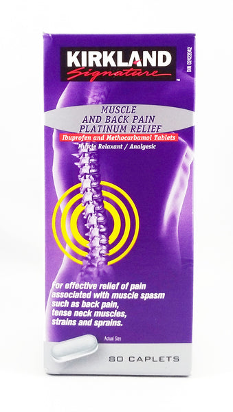 BACK PAIN METHOCARBAMOL PLATINUM 80'S - Queensborough Community Pharmacy - 1