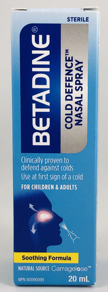 BETADINE COLD DEFENCE NASAL SPRAY 20ML - NorthernVitality.us
