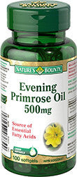 NATURE'S BOUNTY EVENING PRIMROSE OIL 500MG SOFTGEL CAPS 100'S - Queensborough Community Pharmacy