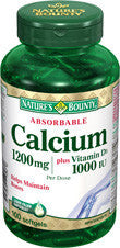 NATURE'S BOUNTY ABSORBABLE CALCIUM SOFTGELS 100'S - Queensborough Community Pharmacy