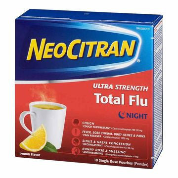 NEO CITRAN ULTRA STRENGTH TOTAL FLU10'S - Queensborough Community Pharmacy