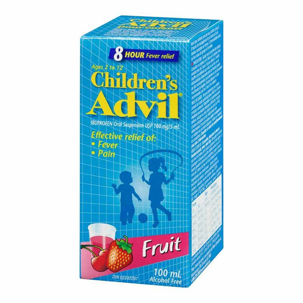 ADVIL FOR CHILD FRUIT FLAVOR 100ML - Queensborough Community Pharmacy