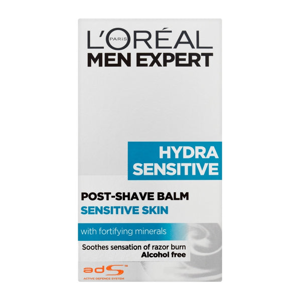 L'OREAL MEN EXPERT HYDRA AFTER SHAVE SENSITIVE SKIN 100ML - Queensborough Community Pharmacy