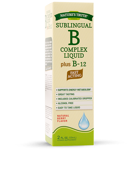 NATURE'S TRUTH B COMPLEXE+B12 LIQ 2OZ