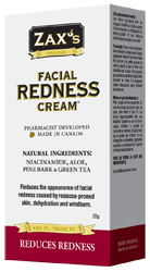 Zax's Facial Redness Cream 28g - Queensborough Community Pharmacy