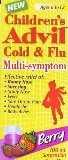 ADVIL FOR CHILD COLD & FLU MULTI SYMPTOM BERRY 100ML - Queensborough Community Pharmacy