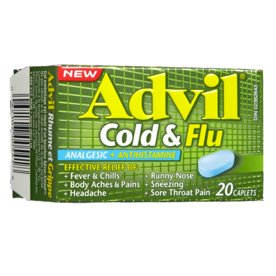 ADVIL COLD & FLU CAPLETS 20'S - Queensborough Community Pharmacy