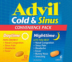ADVIL COLD & SINUS D/N CONV PK 18'S - Queensborough Community Pharmacy
