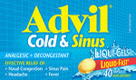 ADVIL COLD & SINUS LIQUI-GELS 40'S - Queensborough Community Pharmacy