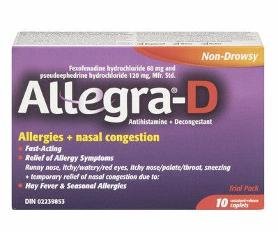 ALLEGRA D 60MG 10'S - Queensborough Community Pharmacy