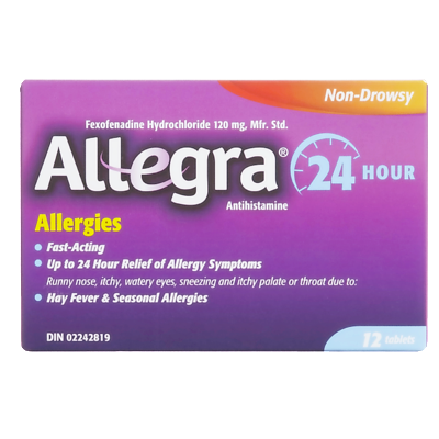 ALLEGRA 24HR 12'S - Queensborough Community Pharmacy