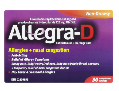ALLEGRA D 60MG 30'S - Queensborough Community Pharmacy